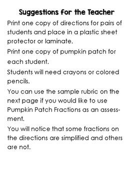 Pumpkin Patch Fractions