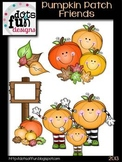 Pumpkin Patch Friends Clipart Set