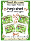 Pumpkin Patch- Fronting and Stopping