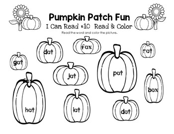 Pumpkin Patch Fun - I Can Read It! Roll, Read, and Cover (Lesson 10)