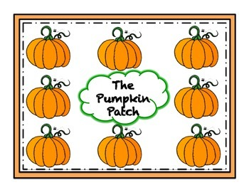 Pumpkin Patch Game Dolch Words First Grade List