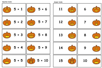 Haunted Pumpkin Patch Game (Addition & Subtraction Facts)