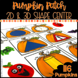 Pumpkin Patch Halloween Math Center: 2D & 3D Shapes