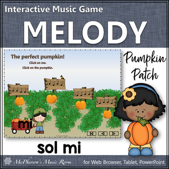 Pumpkin Patch - Interactive Melody Game (Sol Mi)