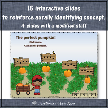 Fall Music Game: Sol Mi Interactive Melody Game {Patch}