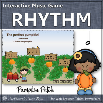 Pumpkin Patch - Interactive Rhythm Game (Half Notes)