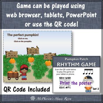 Pumpkin Patch - Interactive Rhythm Game - Sixteenth Notes {tiri-tiri}