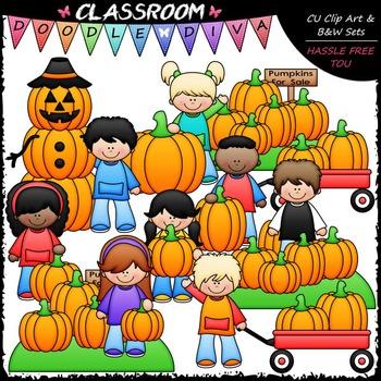 Pumpkin Patch Kids Clip Art - Fall Clip Art - Autumn Clip