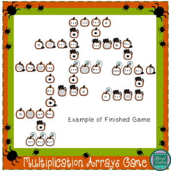 Pumpkin Patch Match- A Multiplication Center Game