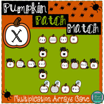 Pumpkin Patch Match- A Multiplication Center Game