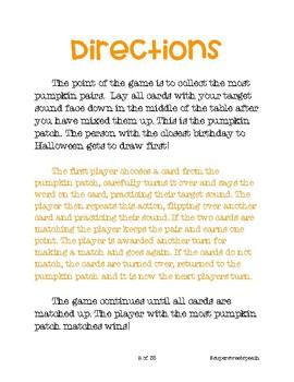 Pumpkin Patch Match Articulation