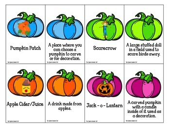 Pumpkin Patch Match: Fall Vocabulary Matching Game