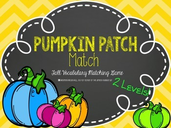 Pumpkin Patch Match: Fall Vocabulary Matching Game