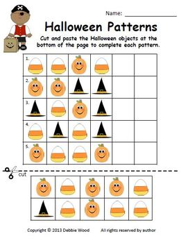 Halloween Pumpkin Patch Match Learning Centers:  Visual Discrimination