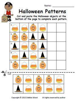 Halloween Pumpkin Patch Match Learning Centers:  Visual Discrimination