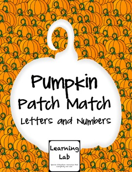 Pumpkin Patch Match (Letters and Numbers)