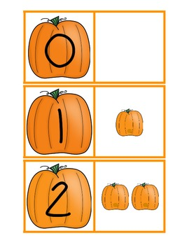 Pumpkin Patch Match Math and Literacy Tubs for Common Core