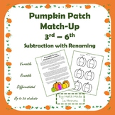 Pumpkin Patch Match-Up with Subtraction (great for forming