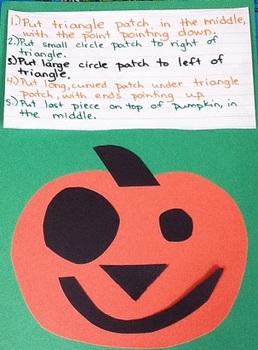 Pumpkin Patch Match (Writing & Following Directions)