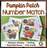 Fall Number Words, Ten Frames, and Numerals