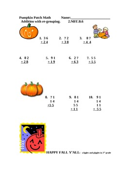Pumpkin Patch Math
