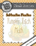 Subtraction Practice:  Pumpkin Patch Math