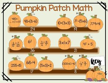 Pumpkin Patch Math Activity