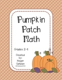 Pumpkin Patch Math Centers and Games