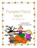 Pumpkin Patch Math - First Grade Skills