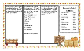 Pumpkin Patch Math Open Ended Questions