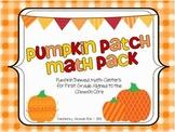 Pumpkin Patch Math Pack (Pumpkin Themed Math Centers for First Grade)