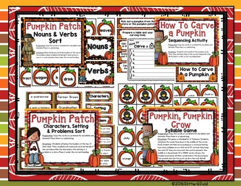 Pumpkin Patch Math and Literacy Centers: 18 Fun Hands-On Centers