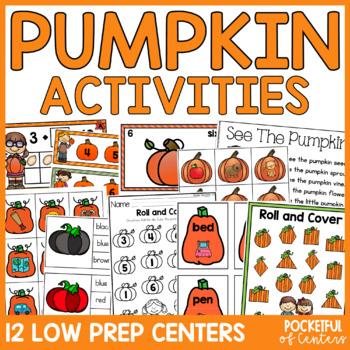 Pumpkin Math and Literacy Centers for Pre-K and Kindergarten {BUNDLE}