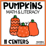 Pumpkin Math and Literacy Centers for Pre-K and Kindergart