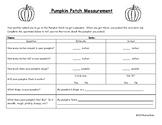 Pumpkin Patch Measurement
