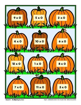 Math in the Pumpkin Patch, Multiplication Match
