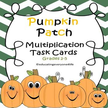 Pumpkin Patch Multiplication Task Cards