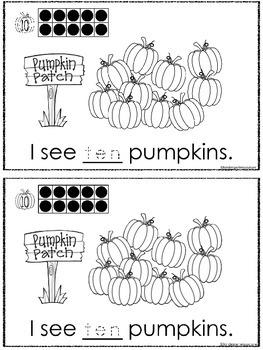 Pumpkin Patch Number Book