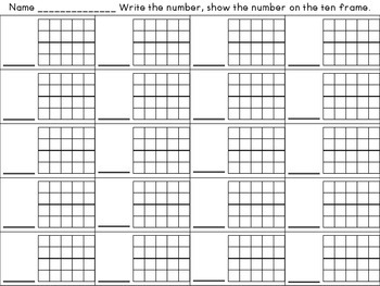 Pumpkin Patch Numbers, A Ten Frame Activity