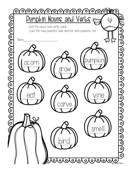 Pumpkin Patch Pack: Math and Literacy Centers