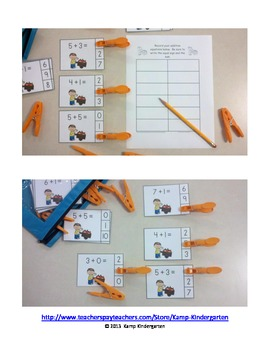 Pumpkin Patch Pals Addition Math Centers (Sums of 0 to 10)