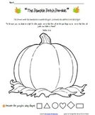 graphic regarding Pumpkin Patch Parable Printable referred to as The Pumpkin Patch Parable Worksheets Education Elements TpT
