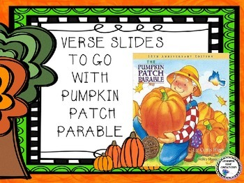 Soft image throughout pumpkin patch parable printable