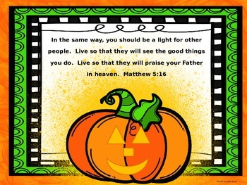 Pumpkin Patch Parable Verses