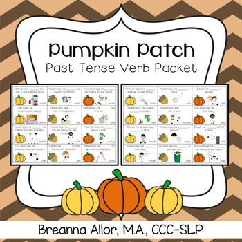 Pumpkin Patch Past Tense Verb Packet