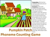 Pumpkin Patch Phoneme Counting Game - Autumn and Thanksgiving fun!