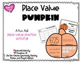 Pumpkin Patch Place Value Fall Math Activity