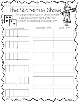 Pumpkin Patch Place Value Grades 2-4 {Common Core Aligned} Fall Math Stations