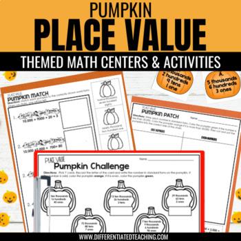 Pumpkin Place Value: an October or Halloween Math Center