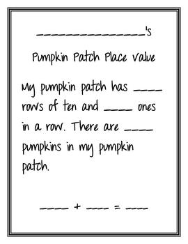 Pumpkin Patch Place Value Recording Sheet